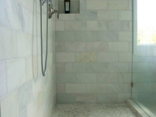 Calcutta marble tilework - Walls and Floors
