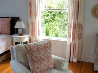 Pretty Red and White Textiles throughout
