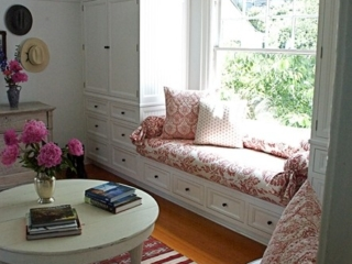 Pretty Custom Textiles in Master Bedroom